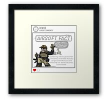 Airsoft Fact 2 Framed Print