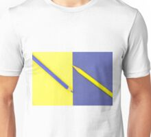 Yellow and Violet coloured pencils and paper Unisex T-Shirt