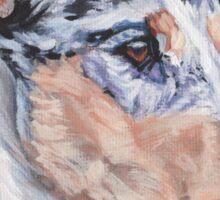 Smooth Collie Fine Art Painting Sticker