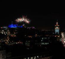 Edinburgh Military Tattoo Fireworks Arc by Miles Gray