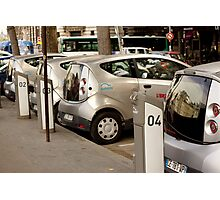 Electric Cars for Rent in Paris Photographic Print