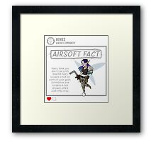 Airsoft Fact 3 Framed Print