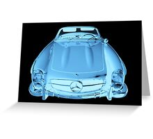 Mercedes Benz 300 SL Convertible Modern Art Greeting Card