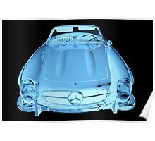 Mercedes Benz 300 SL Convertible Modern Art Poster