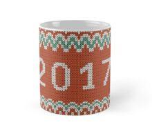 Christmas seamless knitting pattern. New year 2017.  Mug