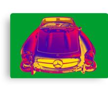 Mercedes Benz 300 SL Convertible Pop Art Canvas Print
