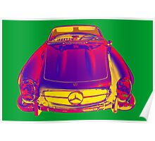 Mercedes Benz 300 SL Convertible Pop Art Poster