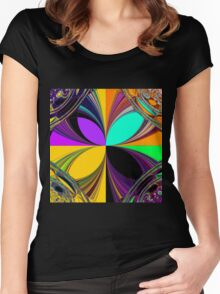 Retro pattern 3 Women's Fitted Scoop T-Shirt