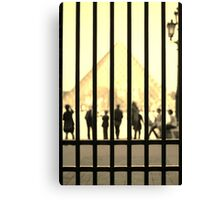 Through the gates of the Louvre - colour  Canvas Print