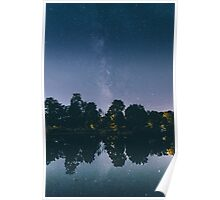 Milky Way Over Lake Poster