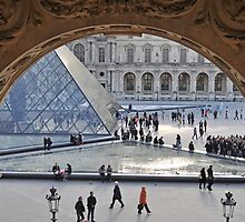 Pyramid through the arch by Denise Couturier