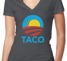 TACO HOPE Women's Fitted V-Neck T-Shirt