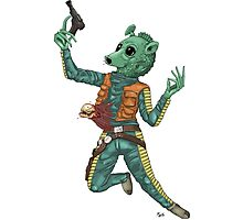 Alien vs. Greedo colored UNofficial Photographic Print