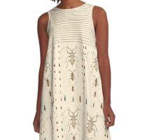 bugs on ivory A-Line Dress