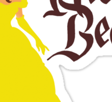His Beauty - Beauty and the Beast Belle Couples Shirt for Women Sticker