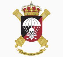 """Parachute Anti-Tank Defense Company (CIADCCPAC). Paratrooper Brigade """"Almogávares"""" (BRIPAC) (Spanish Army) Kids Tee"""
