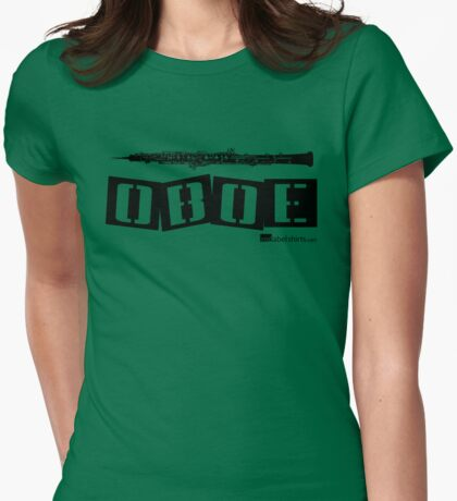 Label Me An Oboe (Black Lettering) Womens Fitted T-Shirt