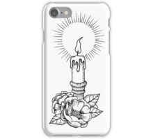 Vintage Flower Candle iPhone Case/Skin