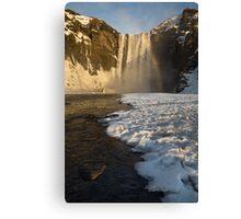 Icy Skogafoss Canvas Print