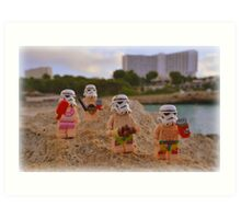 Stormtroopers Holiday (2016) Art Print