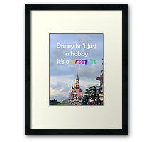 disney lover quote Framed Print