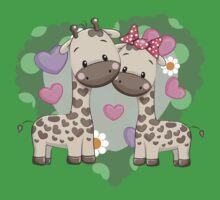 Two cute giraffes Kids Tee
