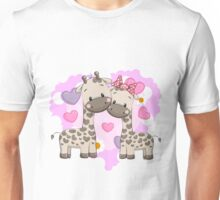 Two cute giraffes Unisex T-Shirt