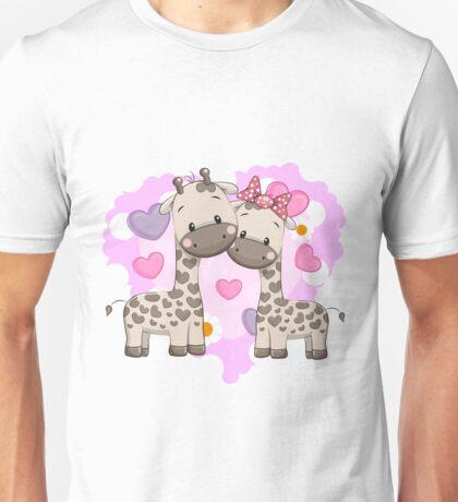 Two cute giraffes Unisex T-Shirt