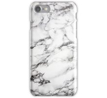 Chic White Marble iPhone Case/Skin