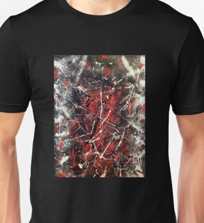 Amazing Red/ Black Abstract Artwork Unisex T-Shirt