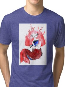 The mermail and the fish Tri-blend T-Shirt