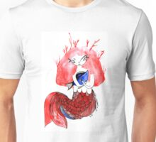 The mermail and the fish Unisex T-Shirt