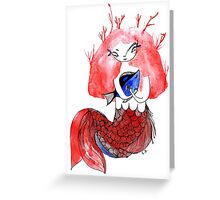 The mermail and the fish Greeting Card