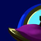armadillo on a pillow by dkzn