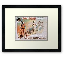 Performing Arts Posters Reeves Palmers Cosmopolitan Company 1990 Framed Print