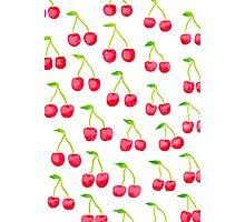 Watercolour cherries Photographic Print