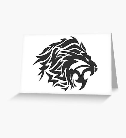 Black Lion Greeting Card