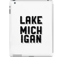 Lake Michigan (Black) iPad Case/Skin