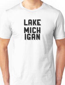 Lake Michigan (Black) Unisex T-Shirt