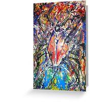 Man as a cockroach by Darryl Kravitz Greeting Card