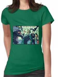 Kick Him in the Nards! Womens Fitted T-Shirt