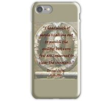 I Hear Much Of Peoples Calling Out - Defoe iPhone Case/Skin