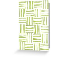 Green Woven Watercolor  Greeting Card