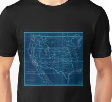 0082 Railroad Maps Map of routes for a Pacific railroad compiled to accompany the report of the Hon Jefferson Davis sec of Inverted Unisex T-Shirt