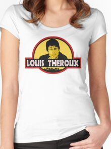 """Jurassic Louis"" Jurassic Park Louis Theroux T Shirt BBC Women's Fitted Scoop T-Shirt"