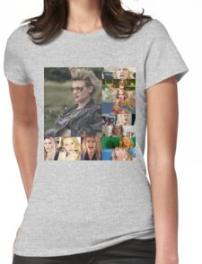 kATE MCKINNON COLLAGE PRODUCTS Womens Fitted T-Shirt