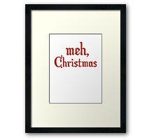 Meh, Christmas Framed Print