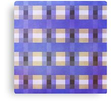 Abstraction #117 Blue Purple Tan White Blocks Canvas Print