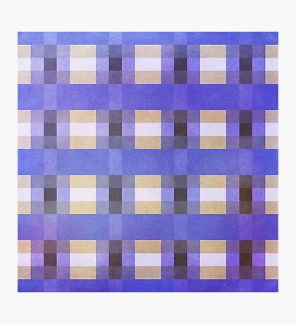 Abstraction #117 Blue Purple Tan White Blocks Photographic Print