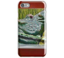Grass Hatched Hippo at the Coffee Bar iPhone Case/Skin